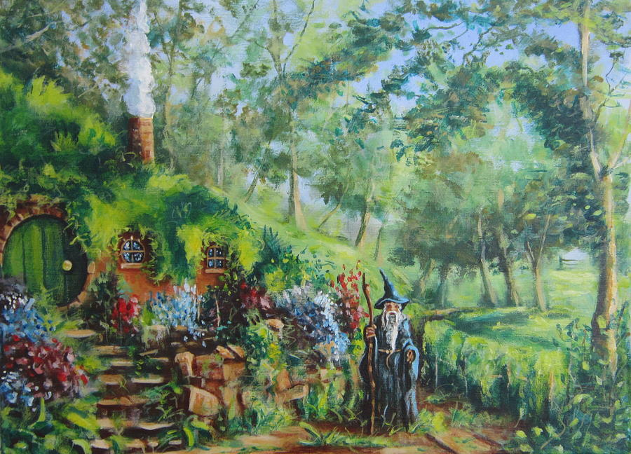 A Visit From Gandalf   Concerning The Ring. Painting