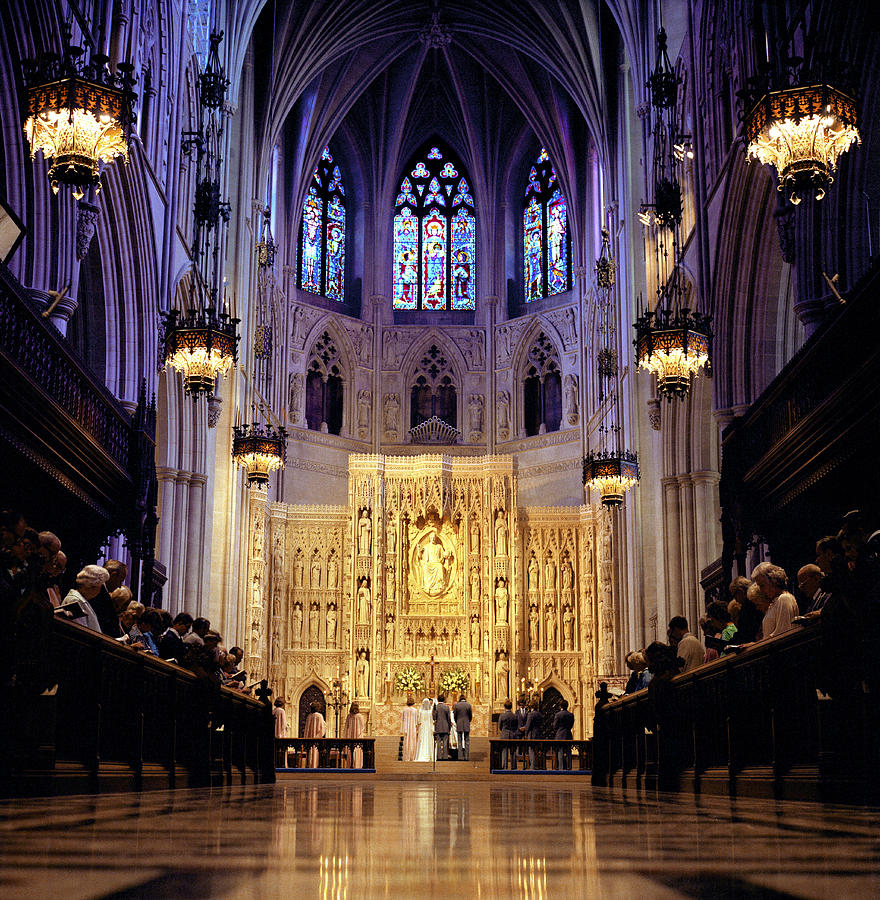 Wedding Altar: A Wedding Ceremony At The High Altar Photograph By Rex A