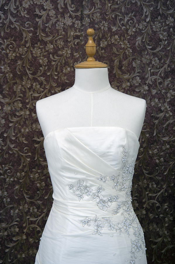 A Wedding Dress On A Mannequin A White Photograph By Marlene Ford