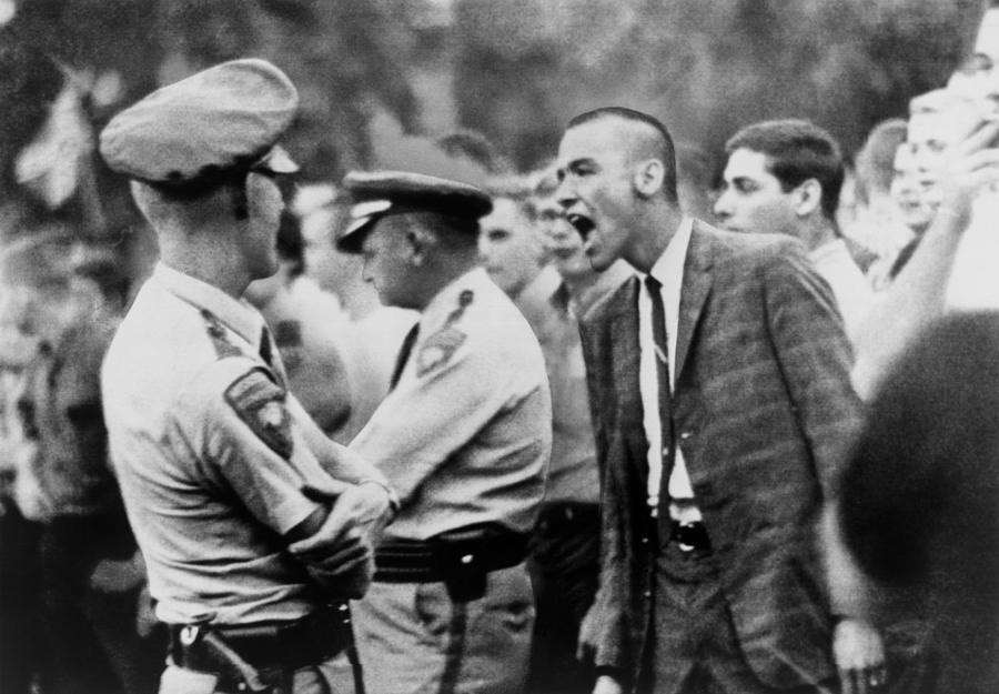 A White Student Shouts Insults Photograph