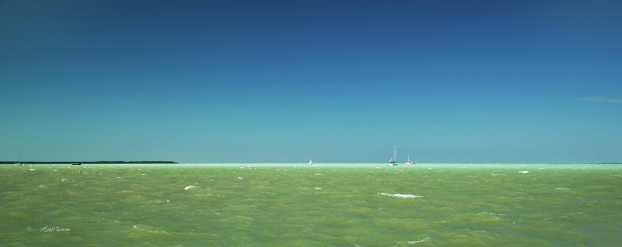 A Windy Day On The Bay Islamorada Florida Photograph  - A Windy Day On The Bay Islamorada Florida Fine Art Print