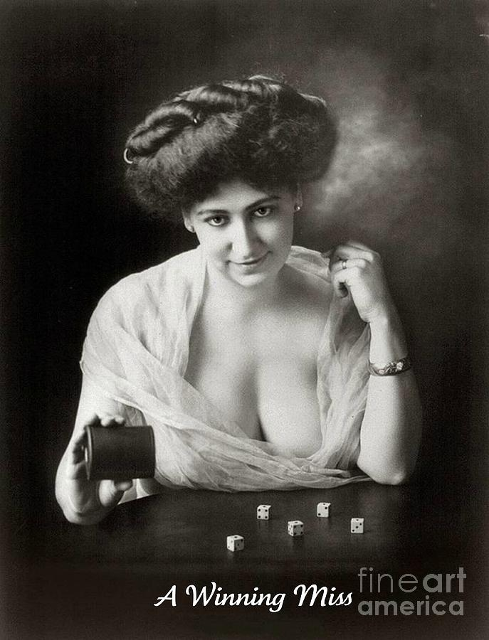 A Winning Miss 1911 Photograph  - A Winning Miss 1911 Fine Art Print