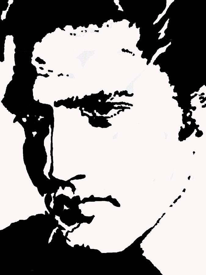 A Young Elvis Drawing  - A Young Elvis Fine Art Print