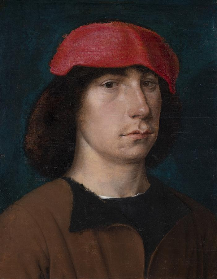 A Young Man In A Red Cap Painting