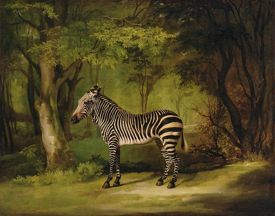 A Zebra Painting