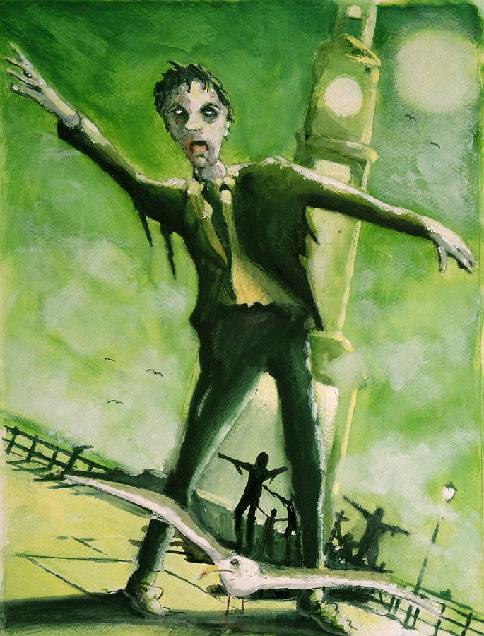 A Zombie In Herne Bay Painting
