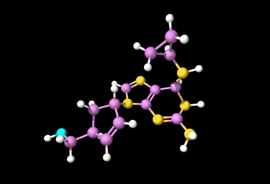 Abacavir Aids Drug Molecule Photograph