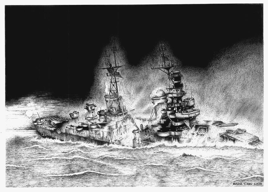 Abandon Ship Drawing  - Abandon Ship Fine Art Print