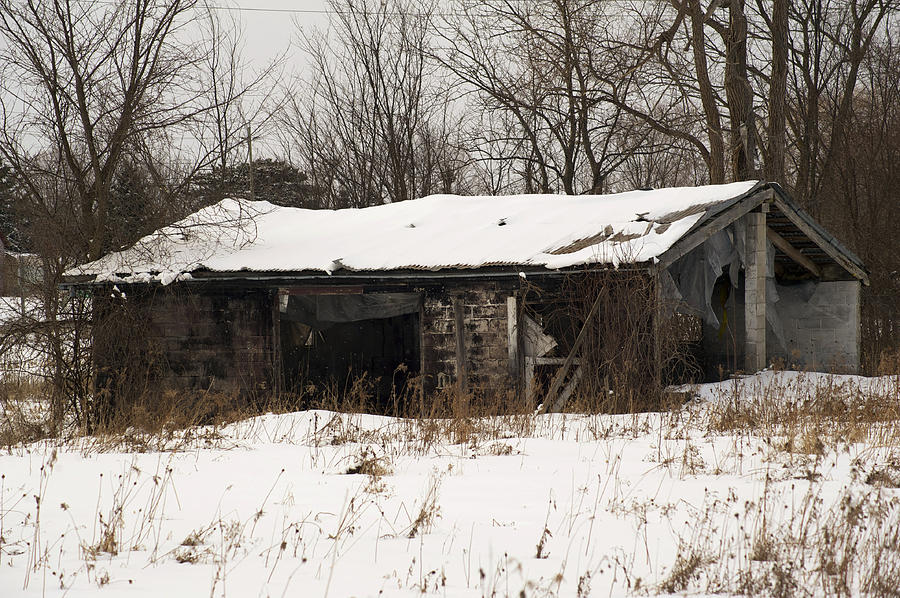 Abandoned And Cold Photograph  - Abandoned And Cold Fine Art Print