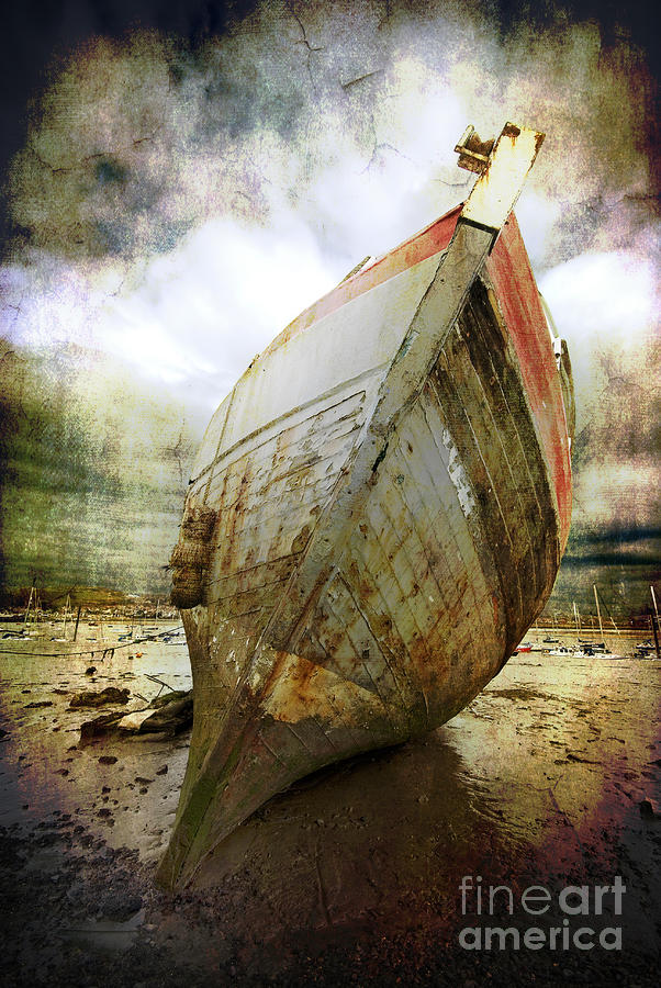 Abandoned Fishing Boat Photograph  - Abandoned Fishing Boat Fine Art Print