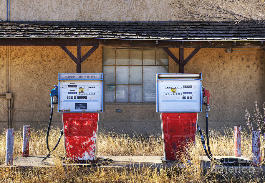 Abandoned Gas Pumps And Station Photograph