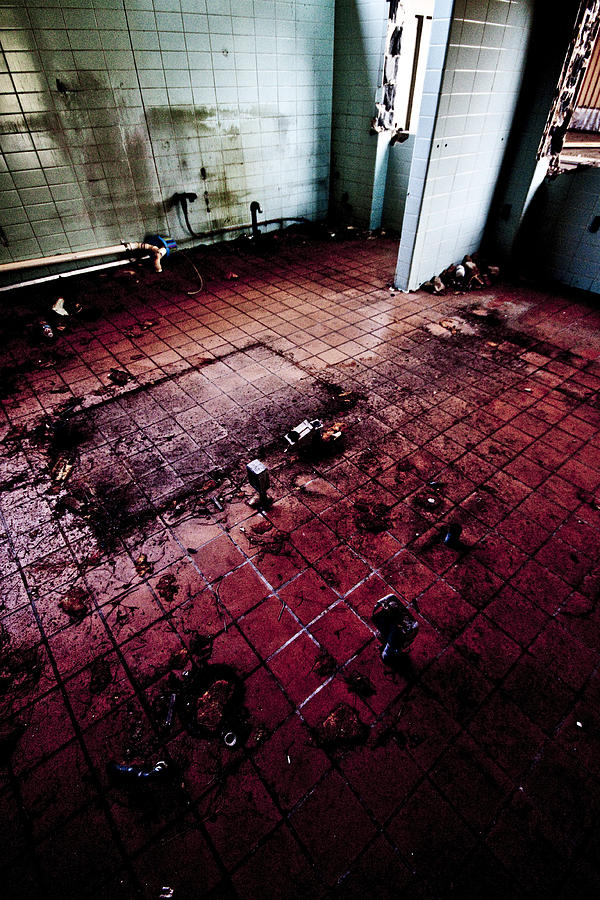 Abandoned Locker Room Photograph