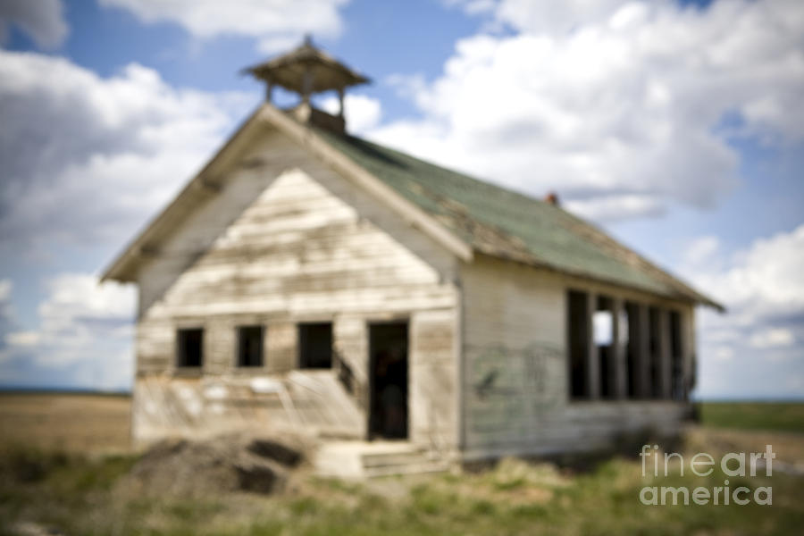 Abandoned Rural School House Photograph  - Abandoned Rural School House Fine Art Print