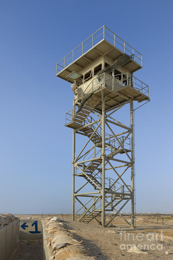 Abandoned Watchtower In The Desert Photograph