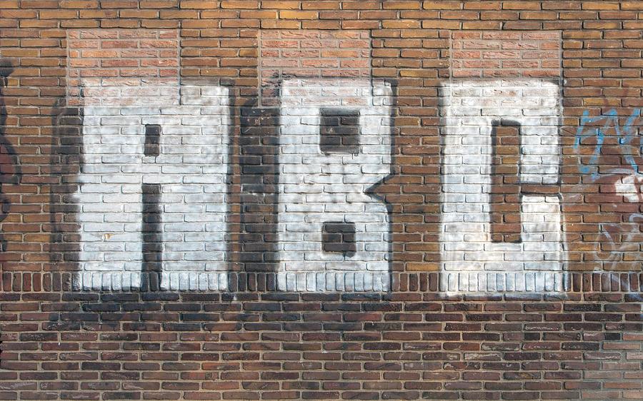 Abc On Wall Pyrography