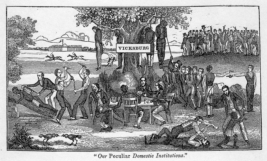 History Photograph - Abolitionist Cartoon Entitled, Our by Everett