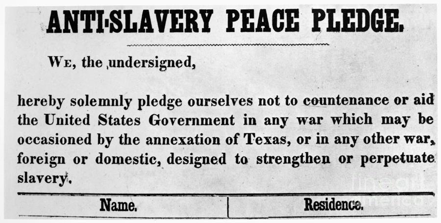 Abolitionist Peace Pledge Photograph