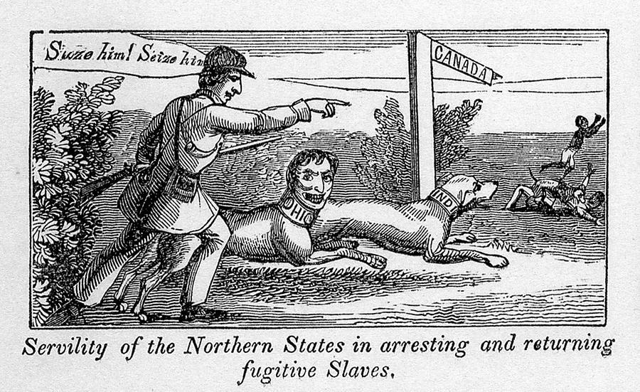 Abolitionist Political Cartoon Photograph