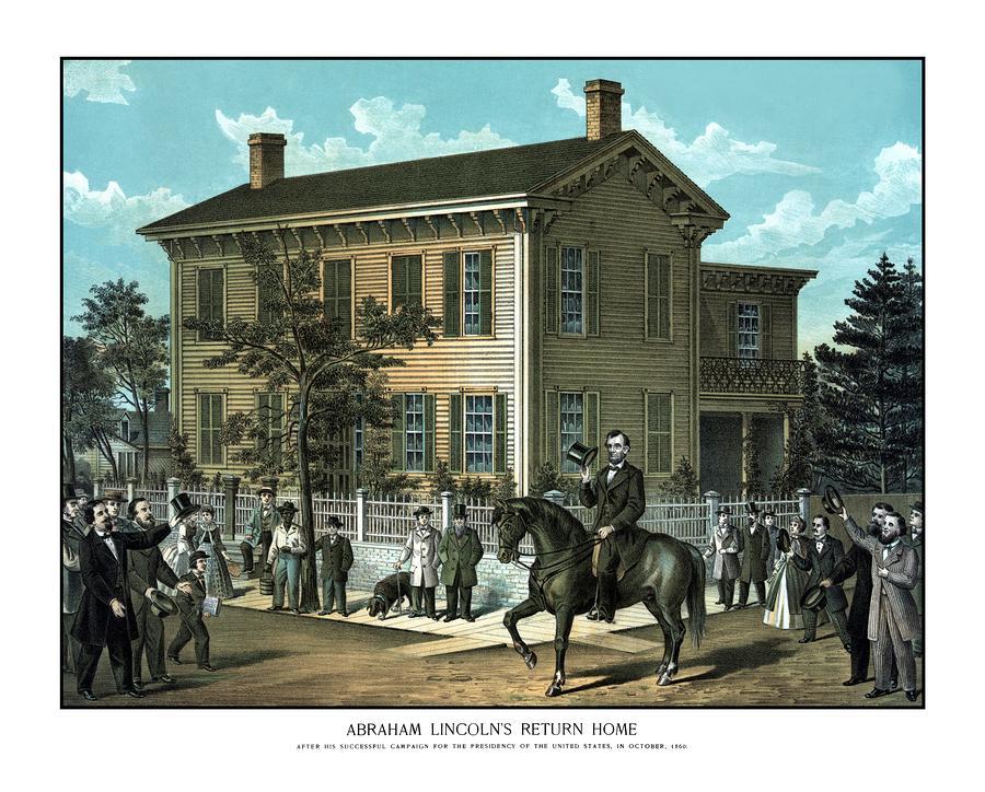 Abraham Lincolns Return Home Painting