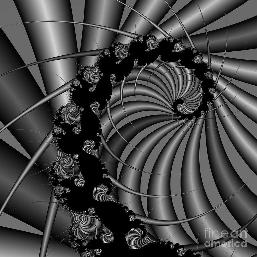 Abstract 112 Bw Digital Art  - Abstract 112 Bw Fine Art Print