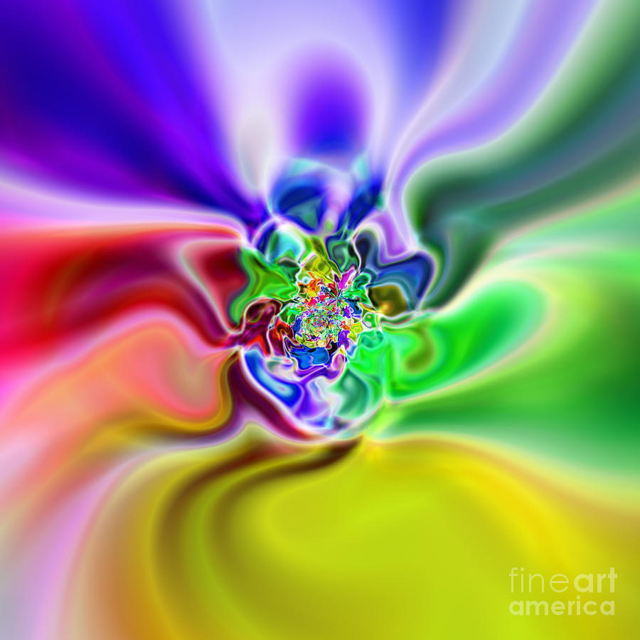 Abstract 235 Digital Art  - Abstract 235 Fine Art Print