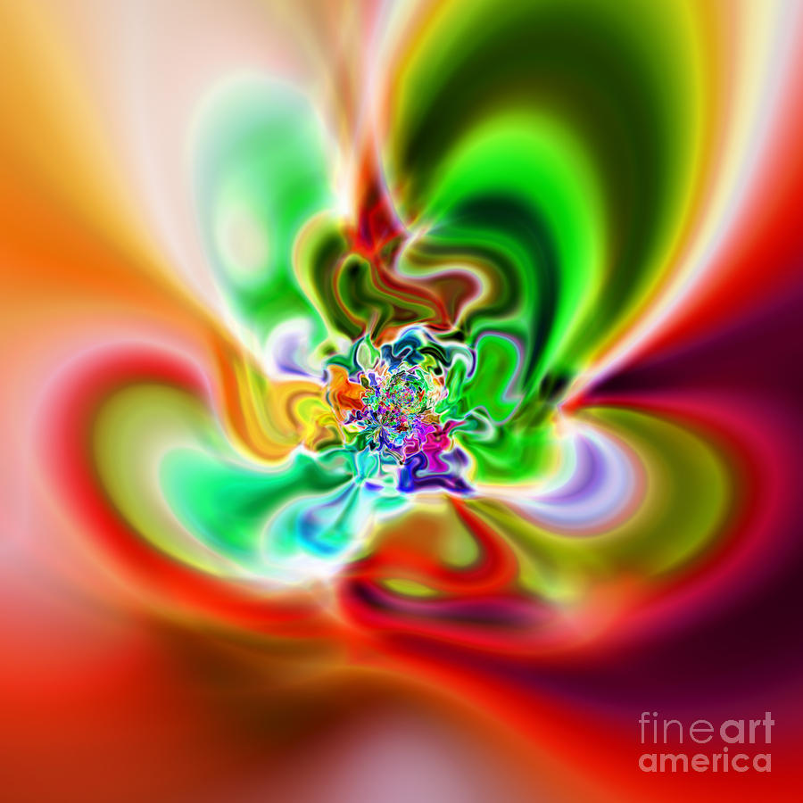 Abstract 240 Digital Art  - Abstract 240 Fine Art Print