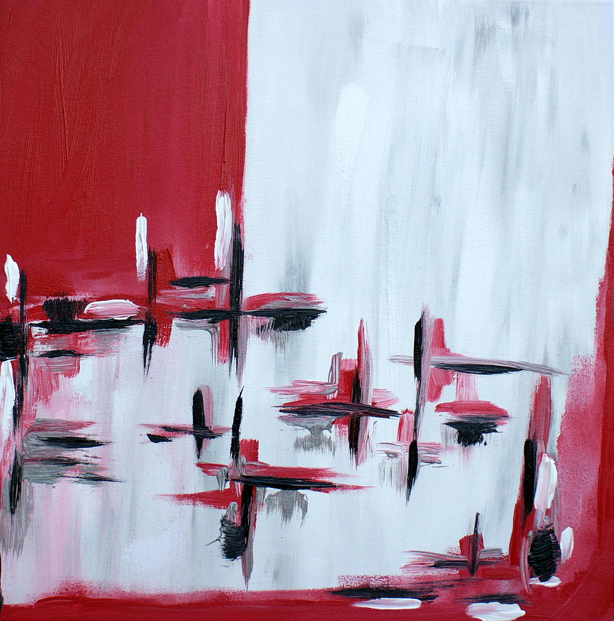 Red  Painting - Abstract 27 by Sandra Conceicao