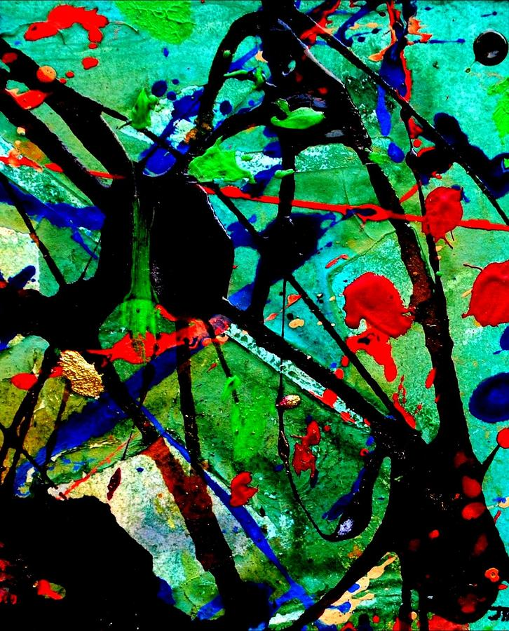 Abstract 40 Mixed Media  - Abstract 40 Fine Art Print