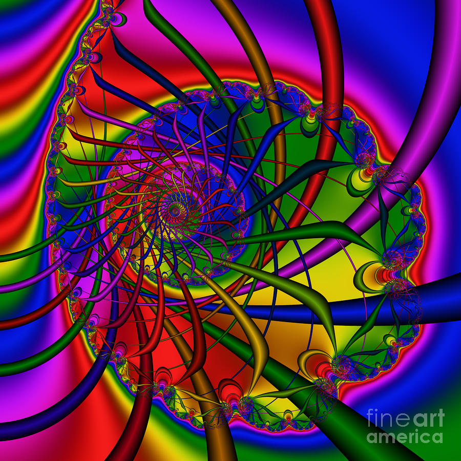 Abstract 526 Digital Art  - Abstract 526 Fine Art Print