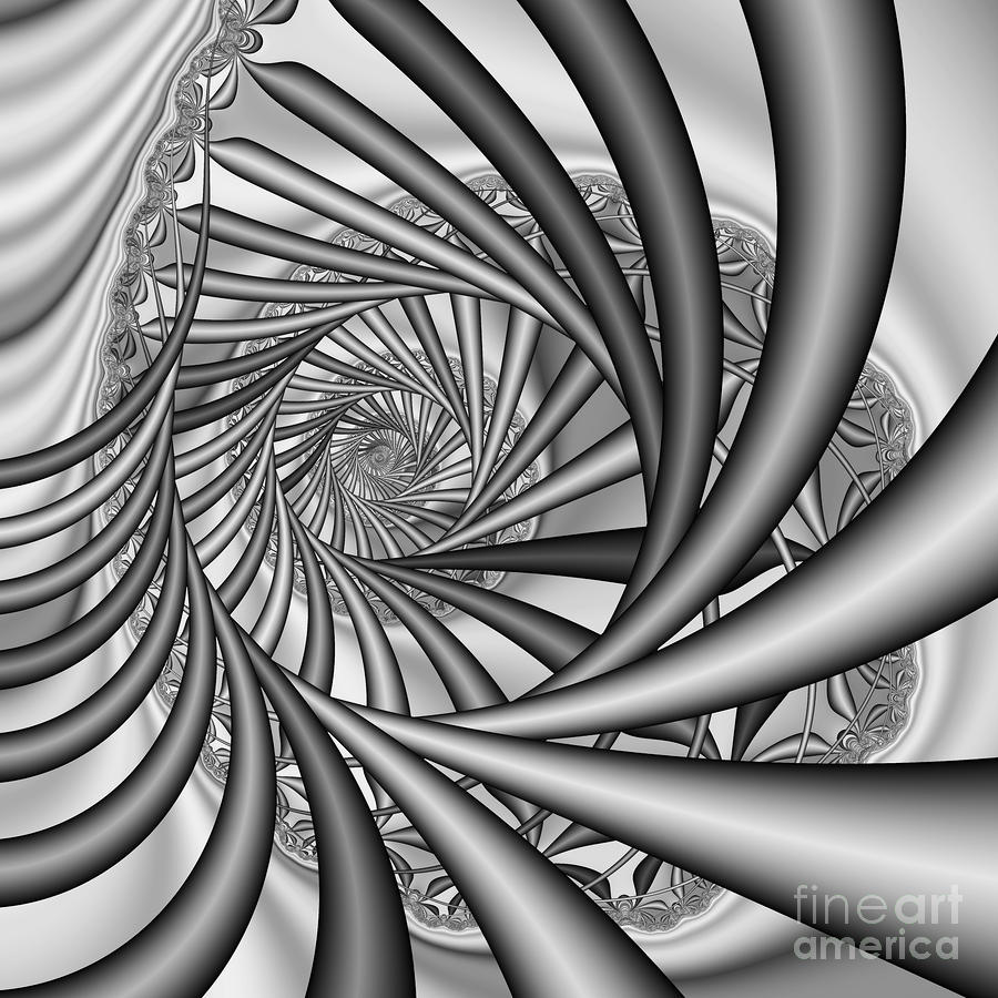 Abstract 532 Bw Digital Art
