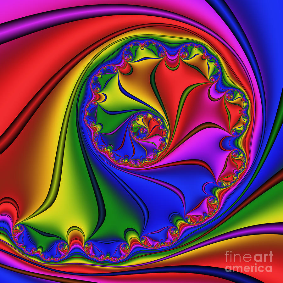 Abstract 535 Digital Art  - Abstract 535 Fine Art Print