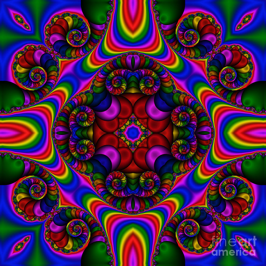 Abstract 667 Digital Art  - Abstract 667 Fine Art Print