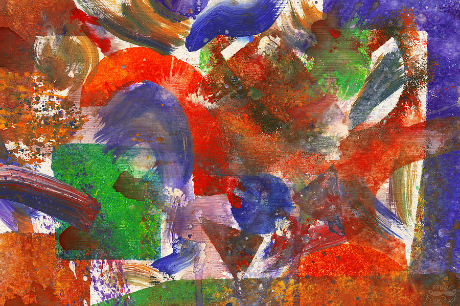 Abstract Photograph - Abstract - Acrylic - Synthesis by Mike Savad