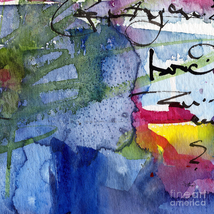 Abstract Alge And Sea Modern Square  Painting