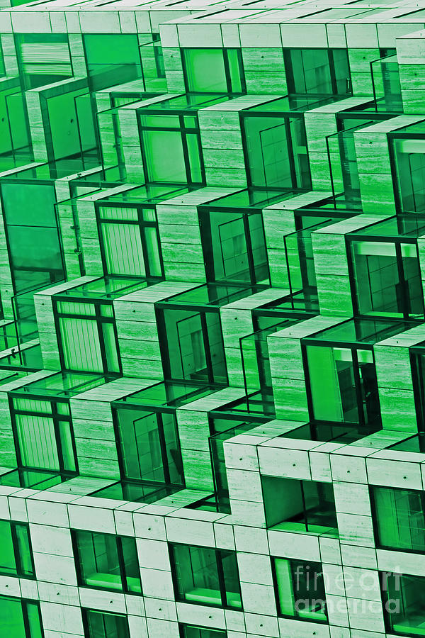 Abstract Architecture In Green Photograph