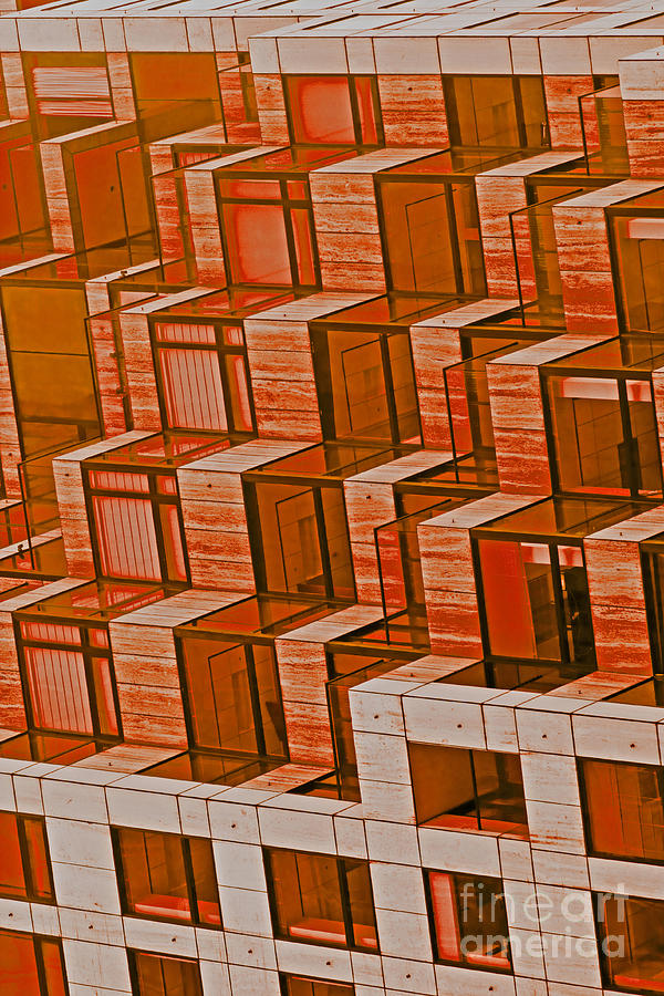 Abstract Architecture In Red Photograph