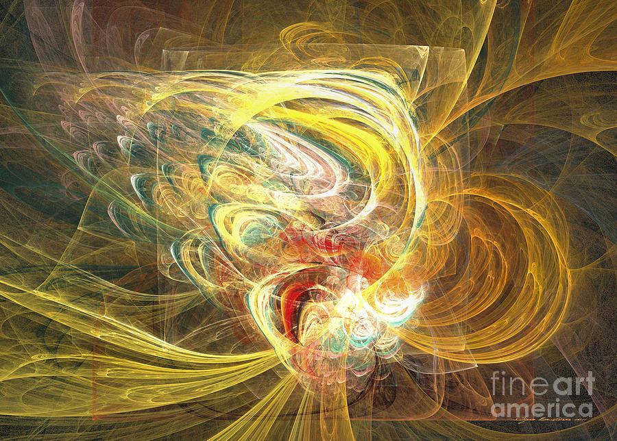 Abstract Fine Art Mixed Media - Abstract Art - In Full Bloom by Abstract art prints by Sipo