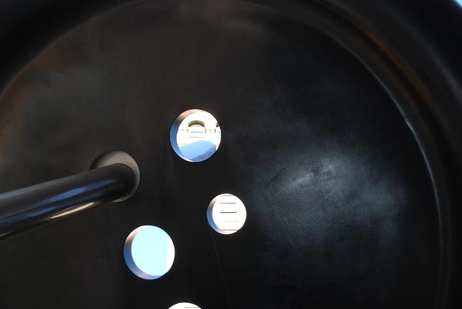 Abstract Button Holes Photograph