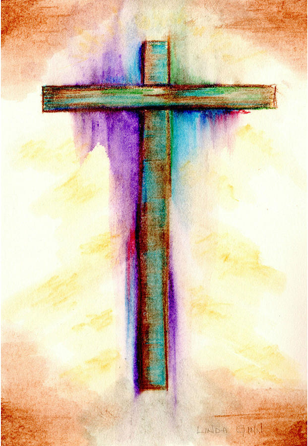 Abstract cross 3 by linda ginn for Cross paintings on canvas