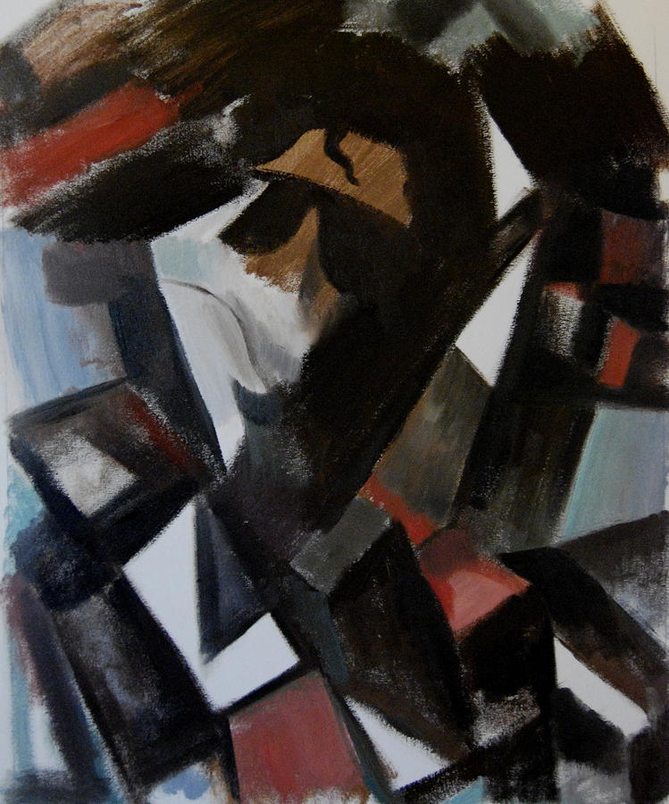 Abstract Cubism Michael Jackson Painting  - Abstract Cubism Michael Jackson Fine Art Print