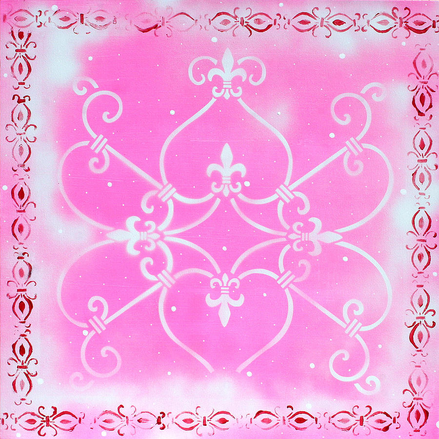 Abstract Decorative Art Original Painting Pink Fantasy By Madart Painting  - Abstract Decorative Art Original Painting Pink Fantasy By Madart Fine Art Print