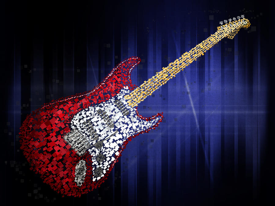 Abstract Art Paintings Abstract Guitar Art