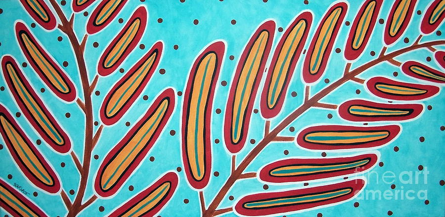 Abstract Ferns Painting