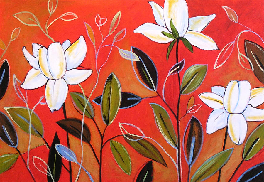 download image simple abstract flower paintings pc android iphone