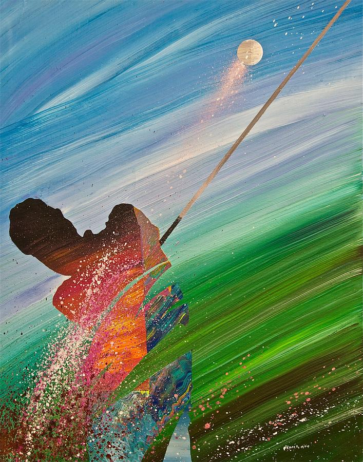 Abstract Golf Painting