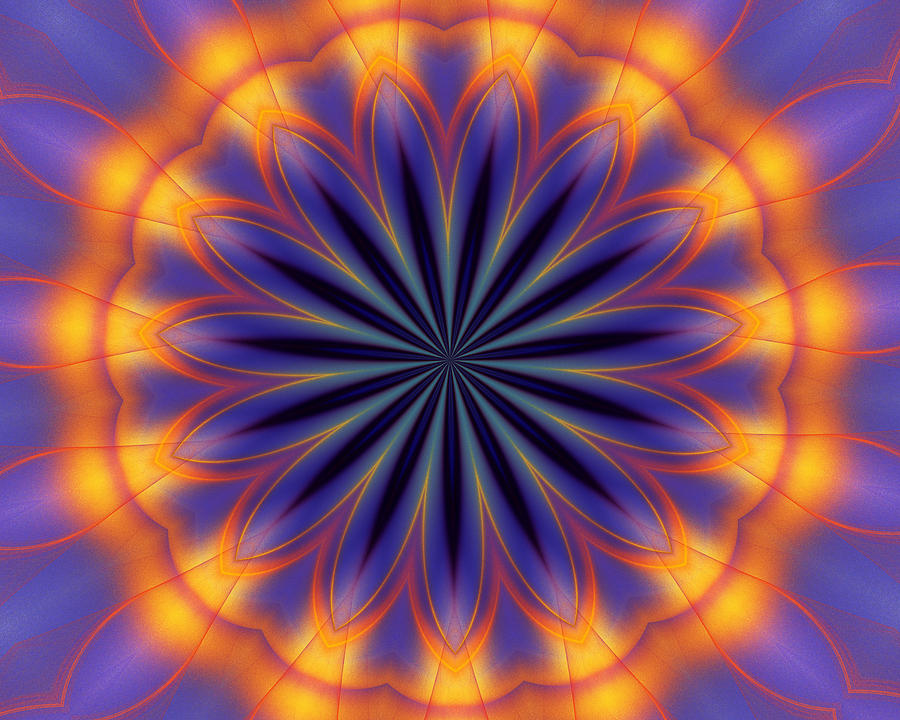 Abstract Kaleidoscope Digital Art  - Abstract Kaleidoscope Fine Art Print