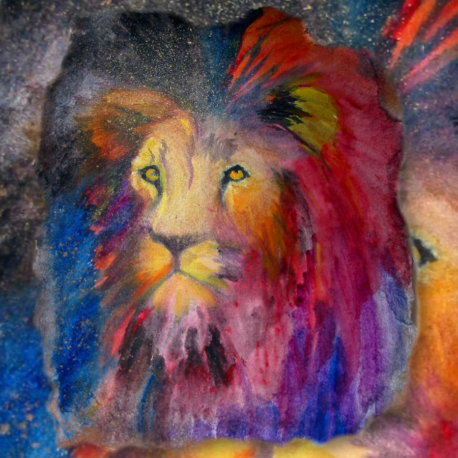 Abstract Lion Painting - Abstract Lion Fine Art Print