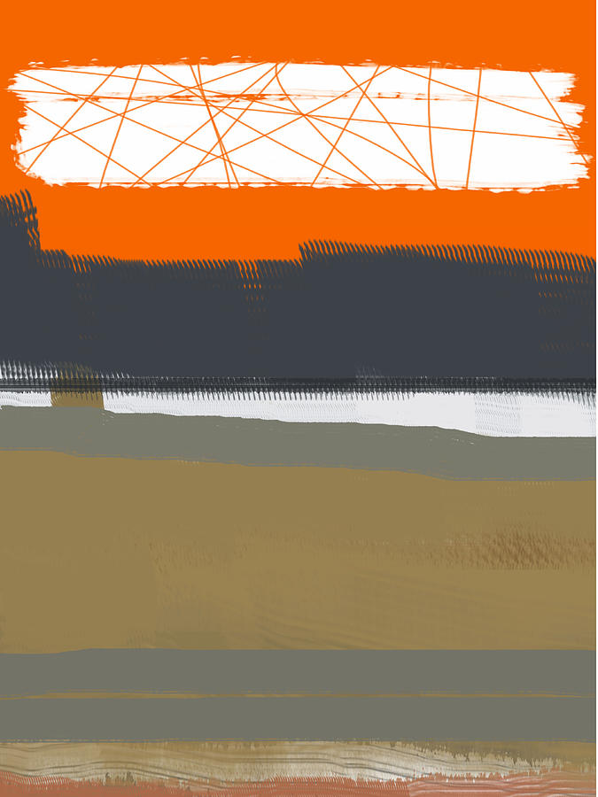 Abstract Orange 1 Painting