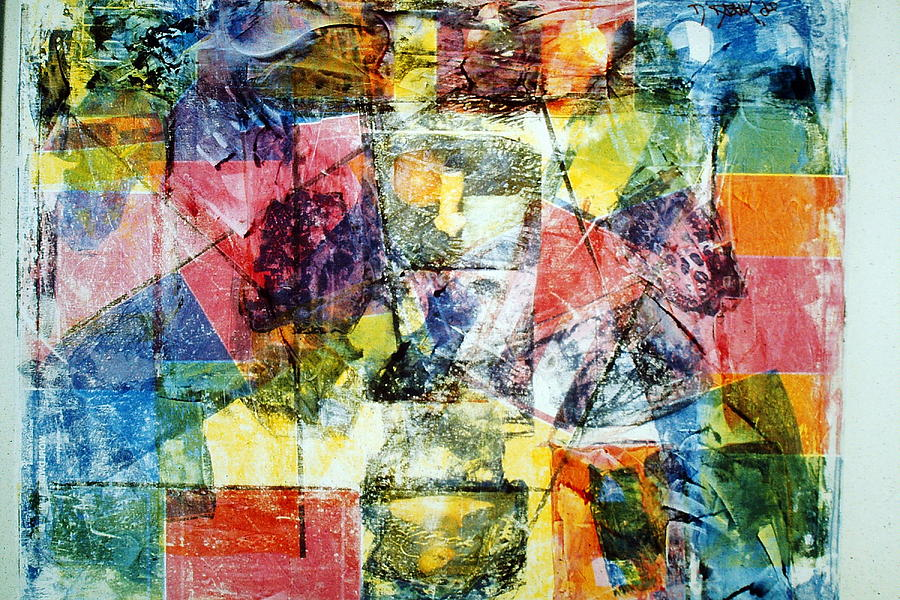 Abstract Painting Mixed Media  - Abstract Painting Fine Art Print
