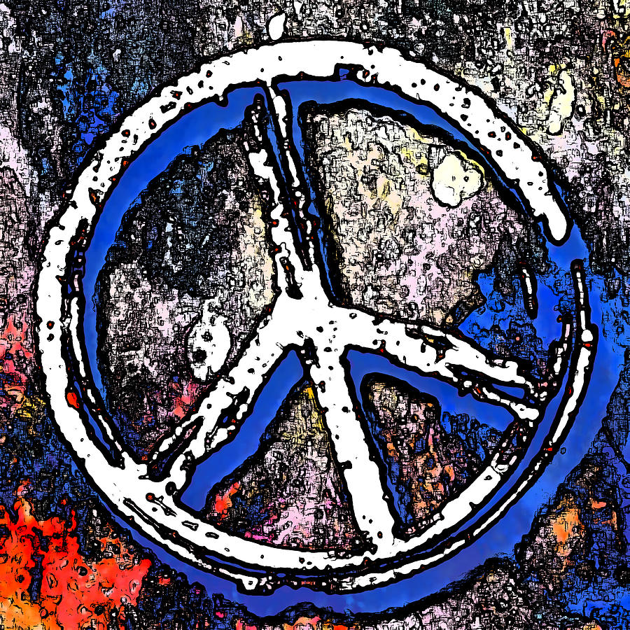 Abstract peace sign photograph